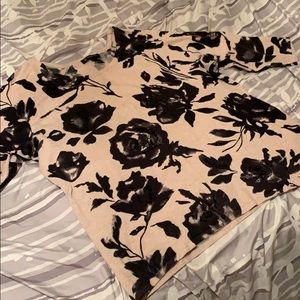 INC Floral Sequined Sweater-size 1X
